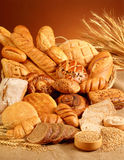 Bread. Variety of delicious fresh bread royalty free stock photos
