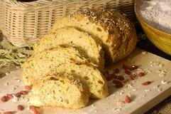 Bread. Fresh bread on woard background Royalty Free Stock Photos