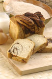 Bread. Assortment of baked breads on board Royalty Free Stock Photo