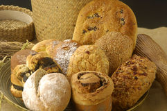 Bread. Group of different bread products Stock Photos