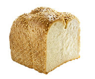 Bread. Isolated on white. This has a clipping path Royalty Free Stock Photos