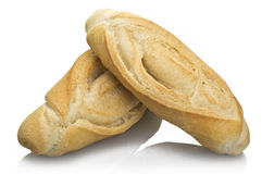 Bread. Close up on the white royalty free stock photography