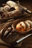 Bread. Assorted kinds of bread ready for serving Stock Image