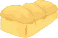 Bread. Illustration Bread on background white Stock Image