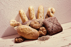 Bread. Assortment of baked bread royalty free stock photo