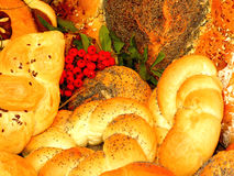 Bread. Different kinds of bread with rowan composition Stock Photo