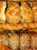 Bread. Different kinds of bread at shop display Royalty Free Stock Image