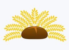 Bread. Black bread, wheat, yellow corn, brown, white background Stock Image