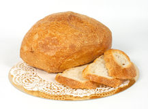 Bread. Chopped on a napkin Stock Images