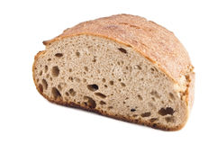 Bread. Cut bread on white background Royalty Free Stock Photos