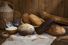 Bread. Still life with bread in the bakery Royalty Free Stock Image