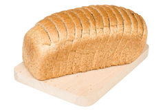 Bread. Loaf of bread on a white background stock images