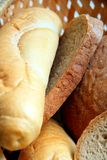 Bread. Image of fresh warm bread in a basket Royalty Free Stock Photography