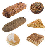 Bread. Sampler - isolated fruits with clipping path Stock Images