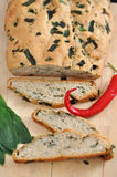 Bread. Italian Bread with Herbs and Chili stock image
