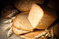 Bread. Still life in dark colours Royalty Free Stock Images