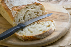 Bread Knife Slice Royalty Free Stock Photography