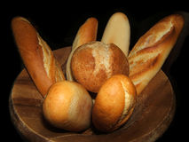 Bread. Some baguette bread in a restaurant Royalty Free Stock Photos
