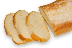 Bread. Cut loaf of white bread Royalty Free Stock Images