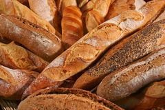Bread 4. Close up of different kinds of breads royalty free stock photo