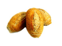 Bread. Over the white background Stock Photos