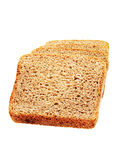 Bread. Slice of Bread  on white background Stock Photography