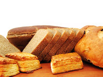 Bread. On white background. See my other images of  and food Royalty Free Stock Photography