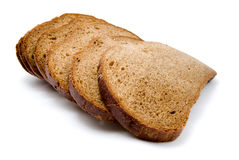 Bread. Isolated on white background stock photography