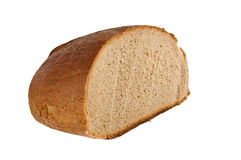 Bread. Loaf of bread isolated on white background Stock Images