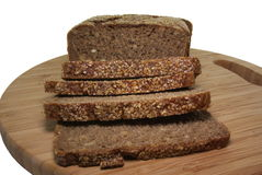 Bread. Wheat bread with corn inside and sesame seeds on Royalty Free Stock Image