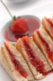 Bread. Strawberry jam and toasted bread in the background Stock Image