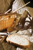 Bread. A composition with bread and spoon Royalty Free Stock Photos