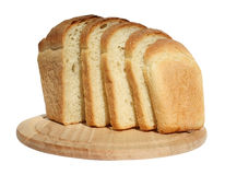 Bread. On a chopping board Stock Images