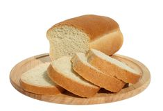 Bread. On a chopping board Stock Image