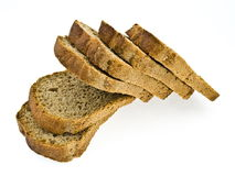 Bread. Slice of bread isolated on white background Stock Photography