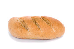 Bread. Close up of fresh whight bread, isolated on white Stock Photos