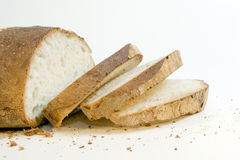 Bread. Cut bread to slices ready in order to eat Royalty Free Stock Images