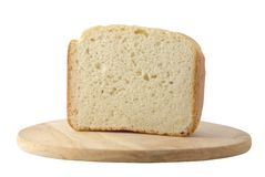 Bread. On the tray isolated over white Royalty Free Stock Photos