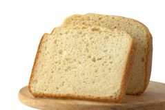 Bread. On the tray isolated over white Royalty Free Stock Image