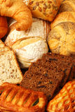 Bread. Lots of bread, buns and cakes royalty free stock photo