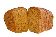 Bread. Brown bread in toasts on white Stock Photography