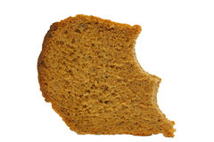 Bread. Brown bread on the white Royalty Free Stock Image