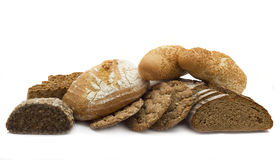 Bread. Of a different kind isolated on a white background Stock Photo