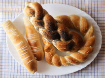 Bread. Various types of bread on a plate Royalty Free Stock Photography