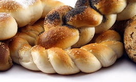 Bread. Various types of bread on white Stock Photo