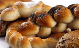 Bread. Various types of bread on white Royalty Free Stock Image