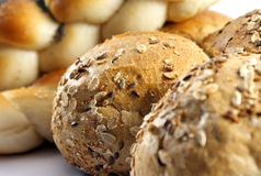 Bread. Various types of bread on white Royalty Free Stock Photography