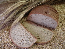 Bread. Nature food meal, bread loaf grain ear Stock Image