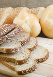 Bread. Sliced wheat bread with bread in the background Stock Photography