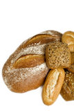 Bread. And  rolls on white background Royalty Free Stock Image